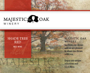 Majestic Oak Winery Shade Tree Red